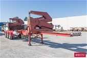 2 x Steelbro Tri Axle Side Lifter Trailers with Remotes
