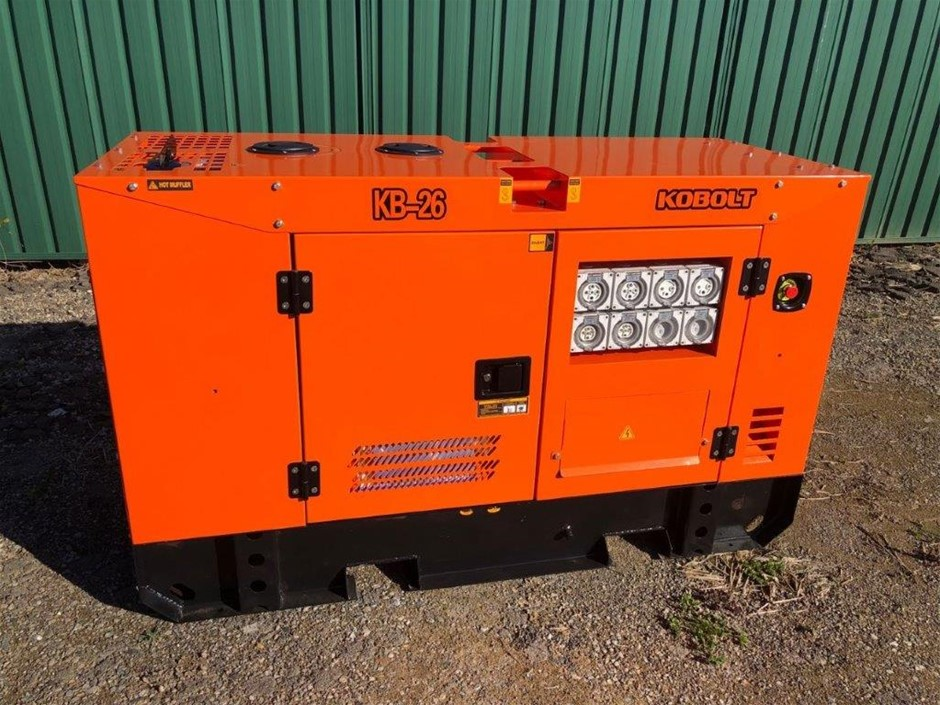 2020 KOBOLT KB26 Silenced 25 kVA Generator