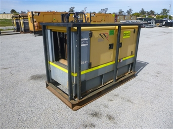 2012 Atlas Copco QAS40 40 KVA Skid Mounted Generator (MR319)