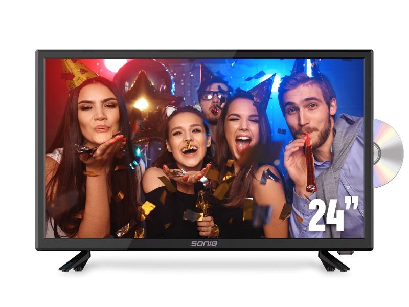 "SONIQ E24"" DVB-T TV with DVD Combo"