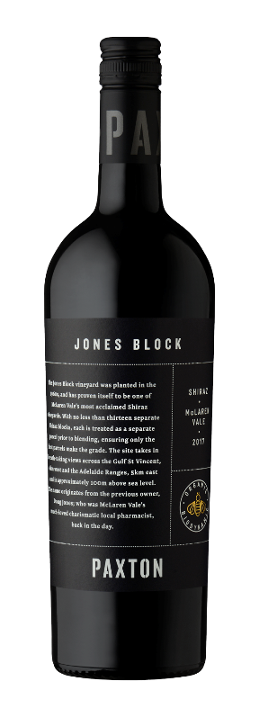 Paxton Jones Block Shiraz 2017 (6x 750mL), McLaren Vale. Screwcap.