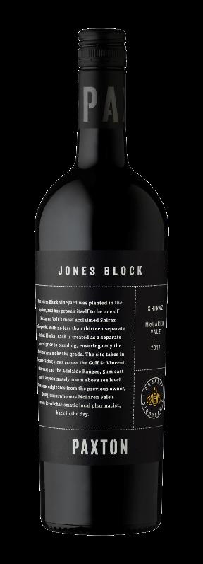 Paxton Jones Block Shiraz 2017 (6x 750mL), McLaren Vale. Screwcap.