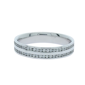 0.26 Carat Sterling Silver double row Ch