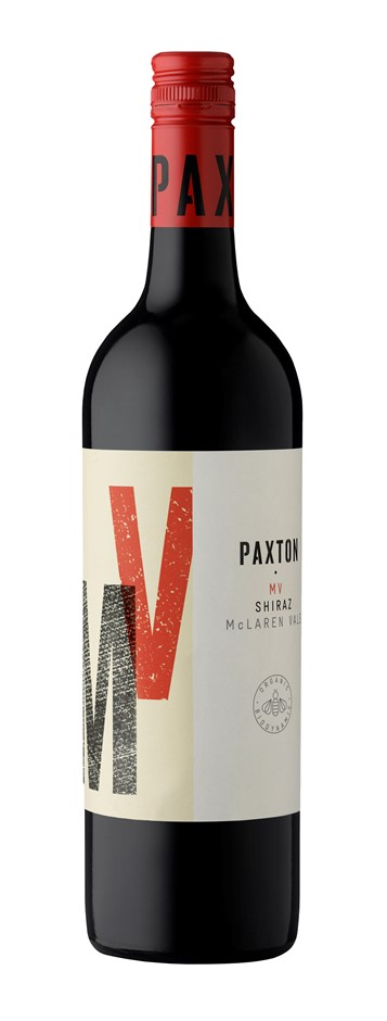 Paxton MV Shiraz 2018 (12x 750mL), McLaren Vale. Screwcap.