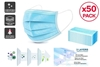 (50 Pack) 3-PLY Medical Protective Disposable Face Masks