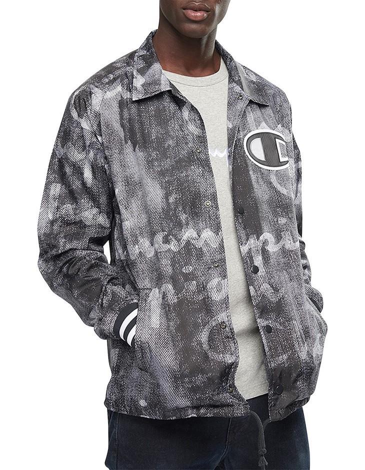CHAMPION Coaches Jacket. Size XL. Colour: Denim Overlay Black. 100% Polyest