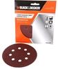 6 Packs of 5 x BLACK&DECKER 125mm Orbital Sanding Discs, Assorted Grits. Bu