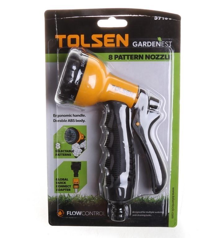 2 x TOLSEN Hand Garden Sprays, 8-Pattern. Buyers Note - Discount Freight Ra