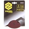 20 x Packs of 5 VOREL 125mm Abrasive Discs, Grit P120, Hook & Fastener. Buy