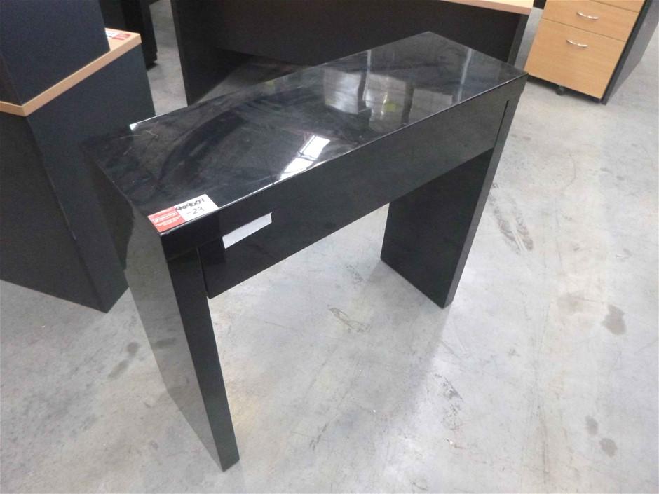 Gloss Black High Draw Table