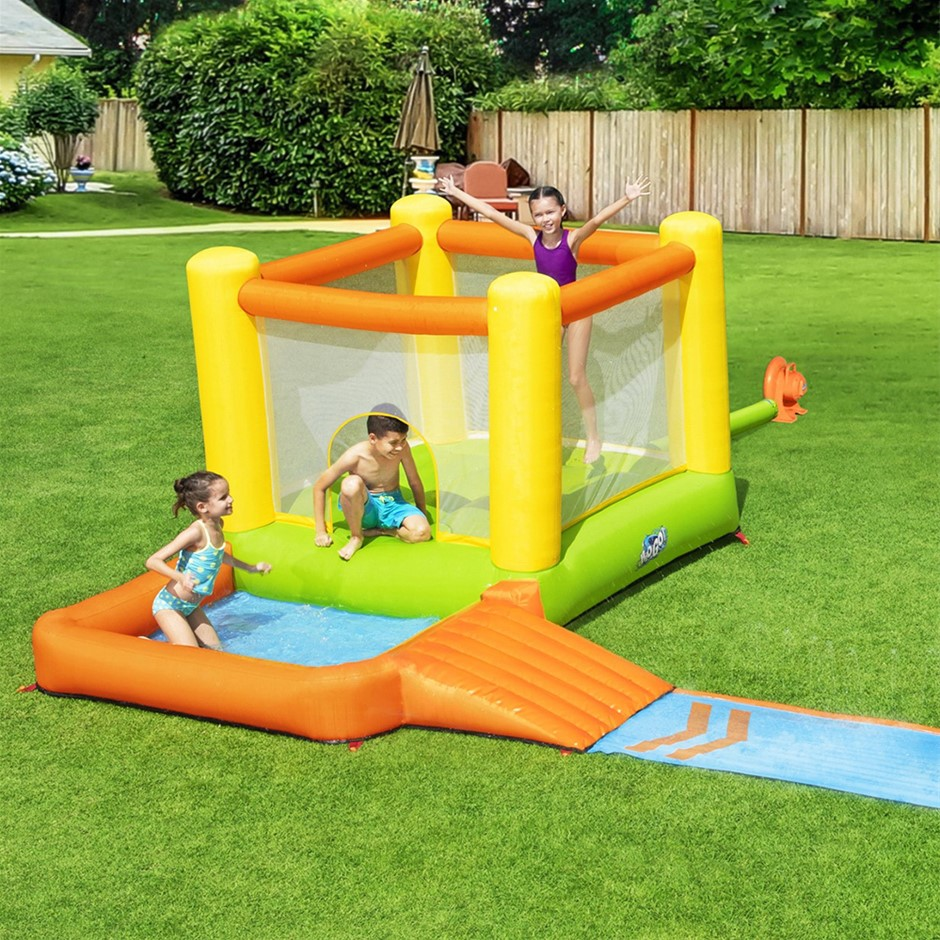 Bestway Inflatable Water Slide Water Park Jumping Splash Toy Outdoor Slides
