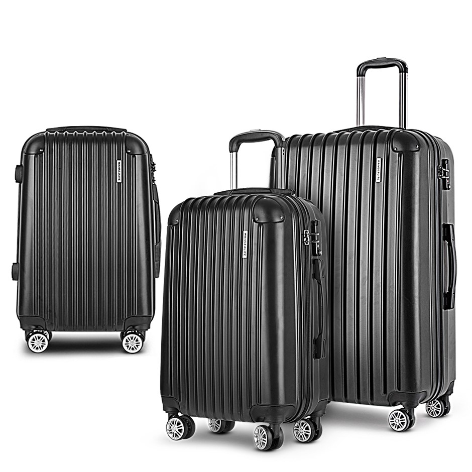 Wanderlite Luggage Sets 3 Piece Suitcase Set Travel Hard Case Lightweight
