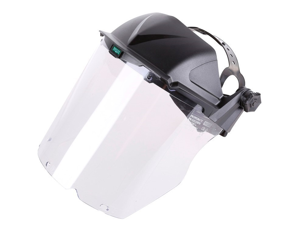 5 x MSA V-Gard Hi-Impact Clear Polycarbonate with Fully Adjustable Headgear