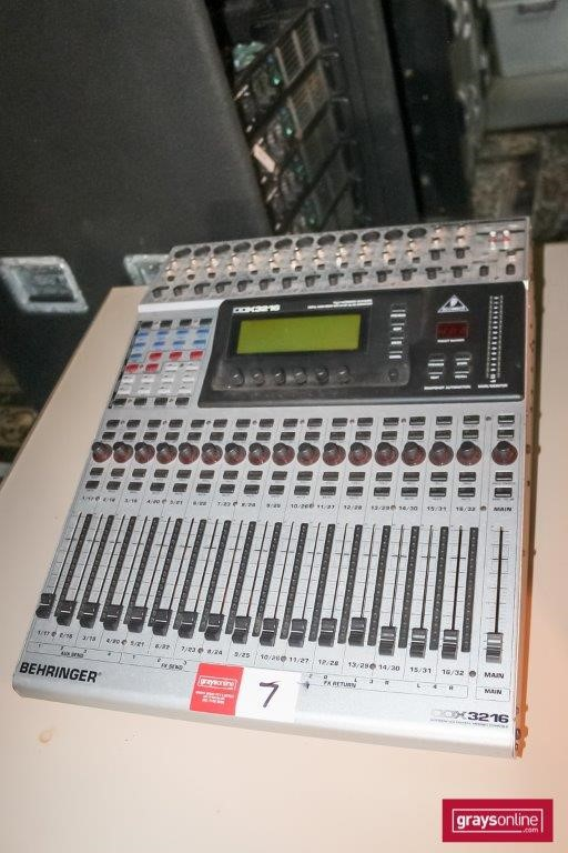 Behringer DDX3216 32 Channel Digital Audio Mixing Console