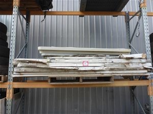 1 x Pallet with Blow Mould Tables and Sh