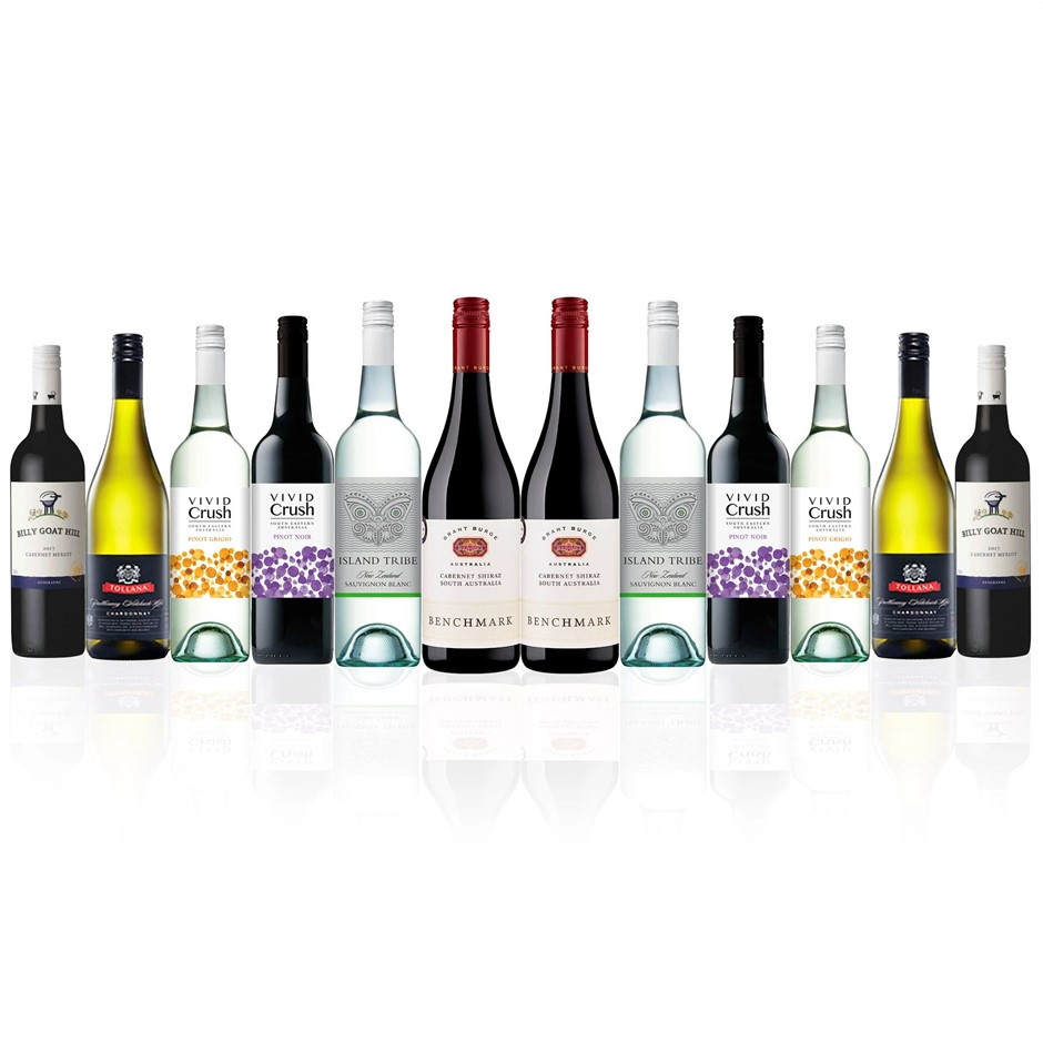 Premium Mixed Wine Dozen feat. Grant Burge, Tollana & more (12x 750mL)
