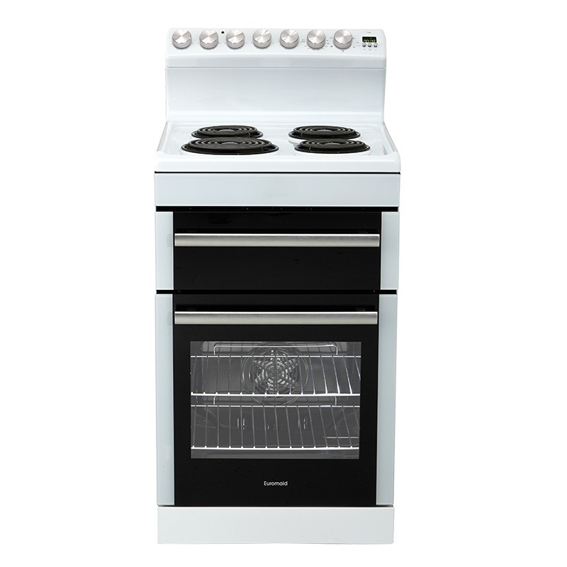 Euromaid Electric Oven + Coil Cooktop (FRR54W)