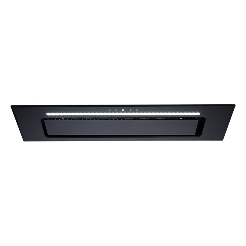 Euromaid 90cm Black Glass Under Cupboard Rangehood (UCG90B)