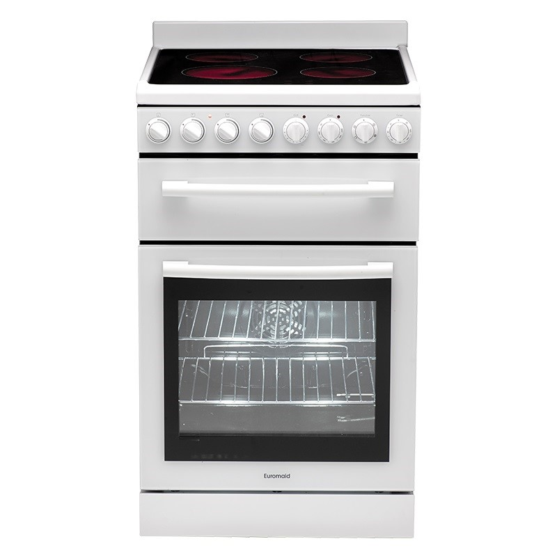 Euromaid T2-F54CW Electric Oven + Ceramic Cooktop