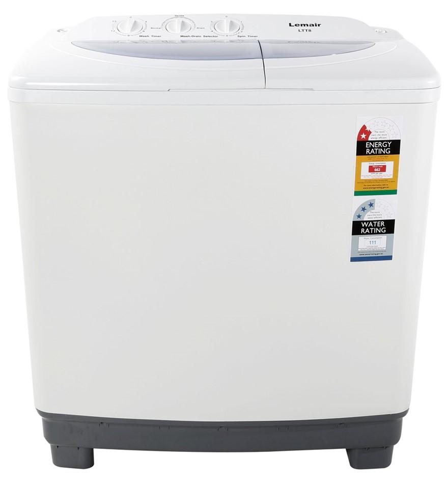 Lemair 8kg Top Load Twin Tub Washing Machine (LTT8)