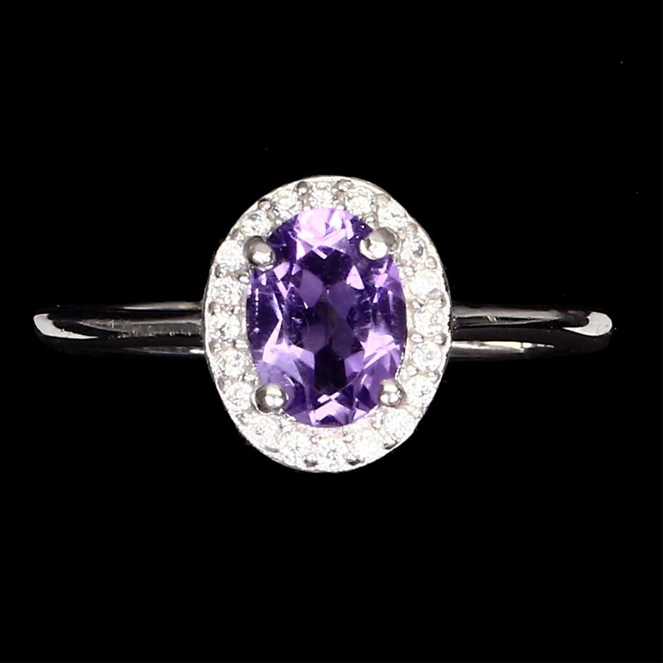Stunning Genuine Amethyst Ring.