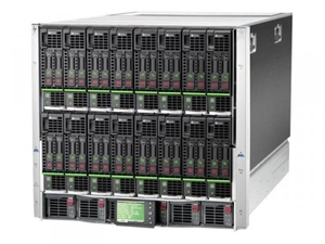 HP BladeSystem c7000 with 8x Bl460c, 64