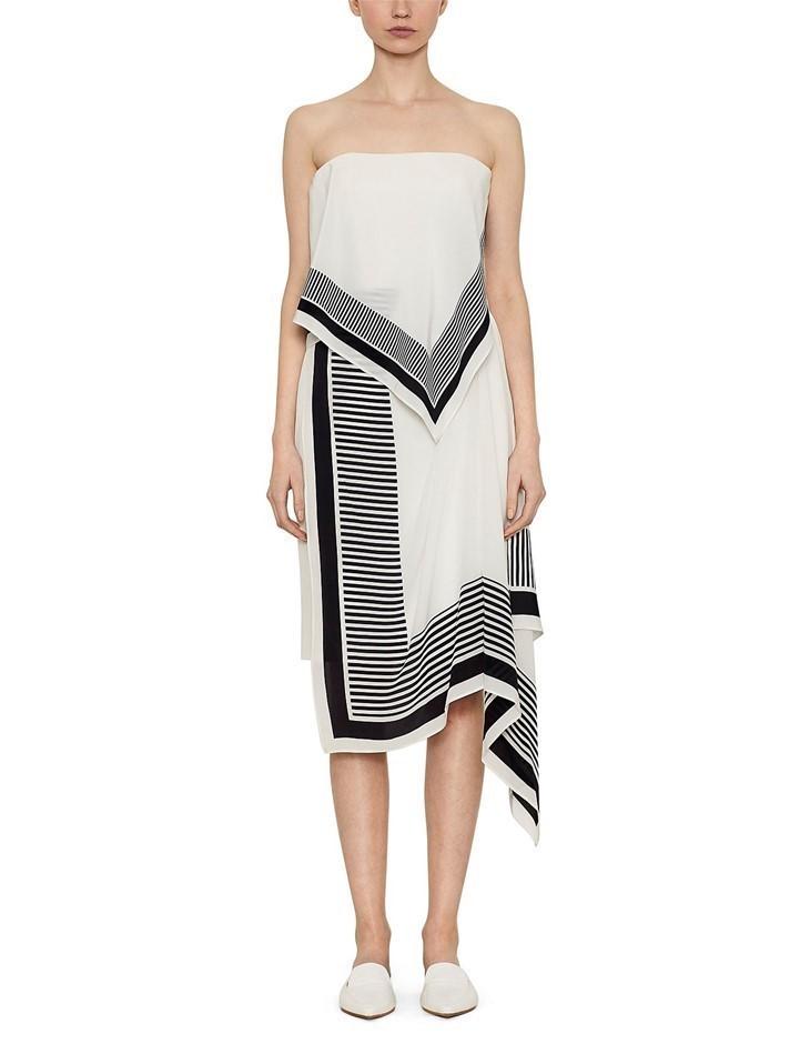 VIKTORIA & WOODS Canter Dress. Size 0, Colour: Black/White. ORP: $490.00 Bu