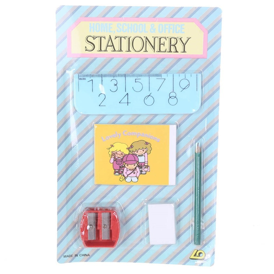 108 x Home School & Office Stationery Sets, Incl; Rulers, Eraser, Pad, Penc