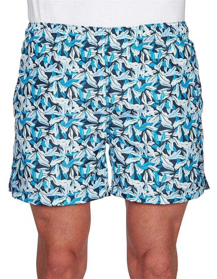 GANT Airy Leaf Swim Short. Size L, Colour: Navy. Buyers Note - Discount Fre