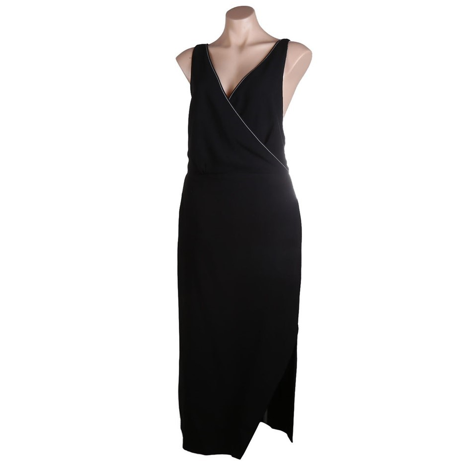 VIKTORIA & WOODS Providence Cross Back Dress. Size 1, Colour: Black. ORP $4