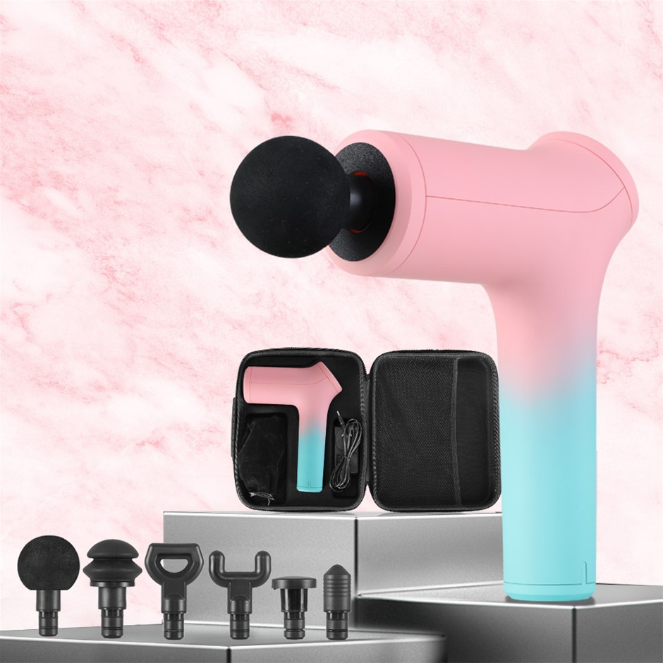 LCD Massage Gun Electric Massager 6 Heads Muscle Tissue Percussion Therapy
