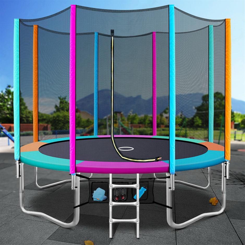 10FT Trampoline Round Trampolines Kids Enclosure Safety Net Pad