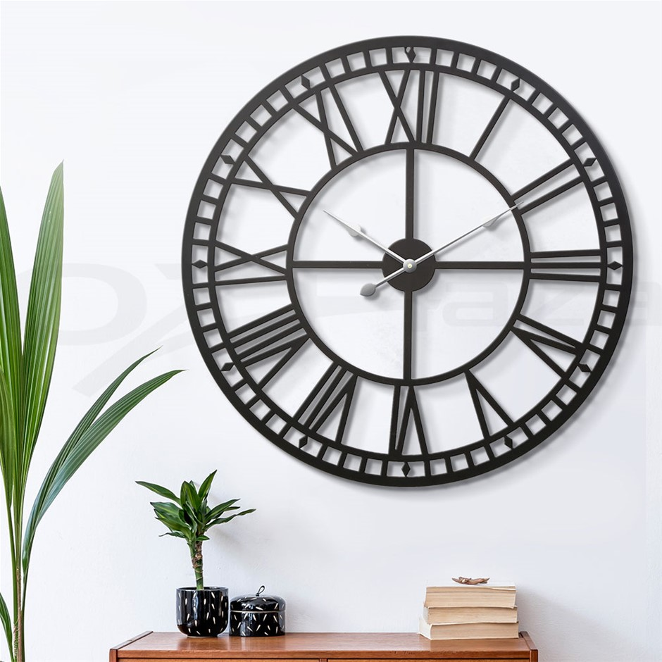 Wall Clock Extra Large Modern Silent No Ticking Movements 3D - 80cm