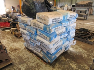Pallet of Industrial Hydrated Lime Bags