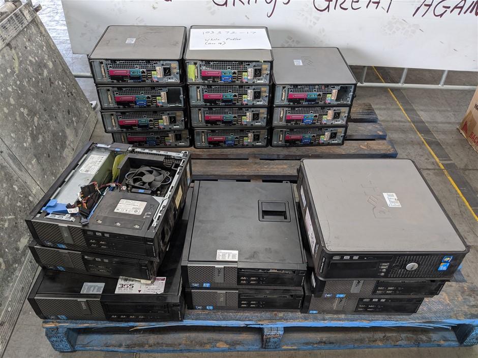 Qty 19 x Assorted Dell SFF Desktop PCs