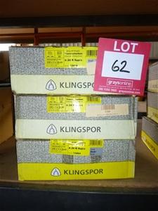 3 x Boxes Of Assorted Klinspor Steel Cut