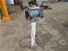 Bench Grinder and Wire Buff on Pedestal
