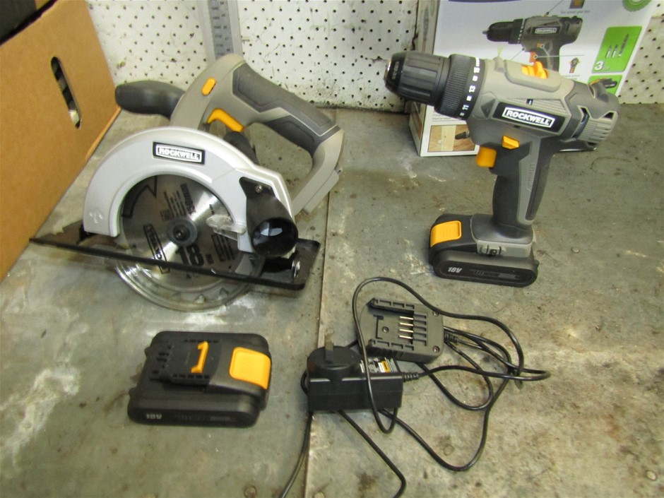 Rockwell 18volt cordless saw and rockwells 18 volt cordless drill