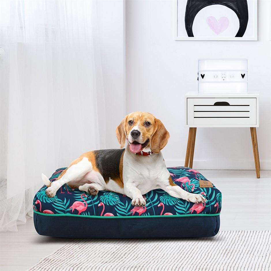 Charlie's Rectangular Funk Pet Bed Pad- Pink Flamingoes Medium