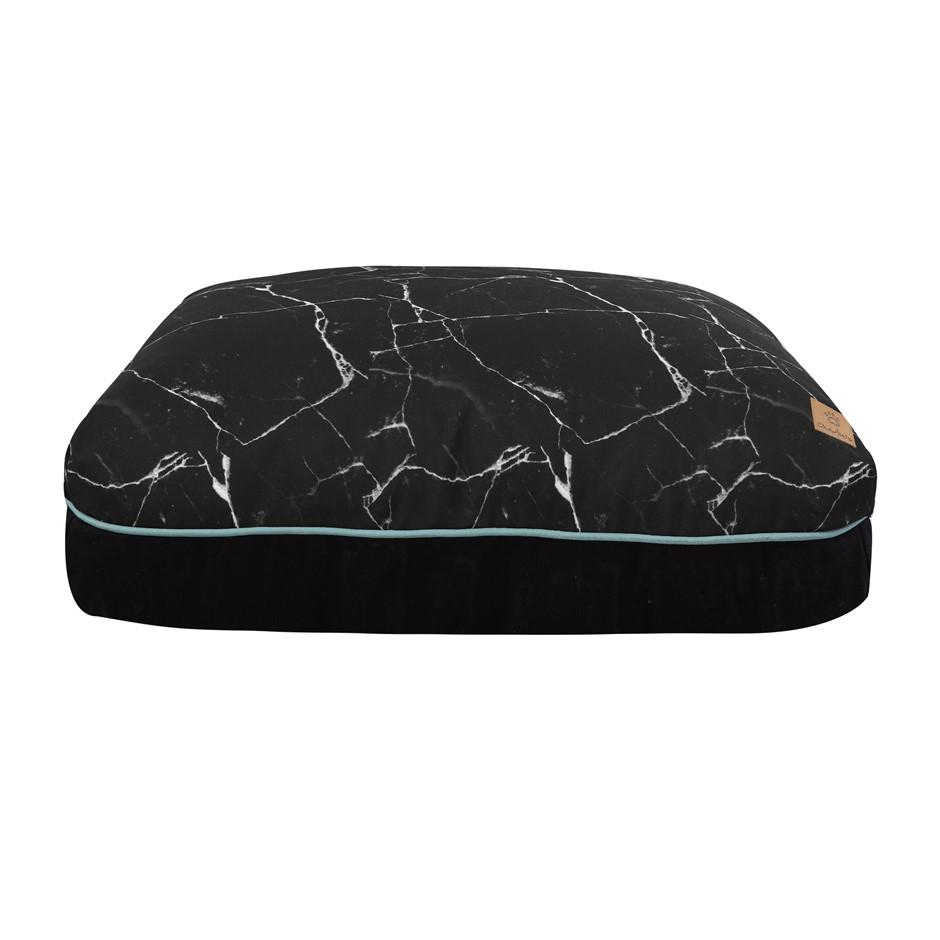 Charlie's Rectangular Funk Pet Bed Pad- Black Marble Large
