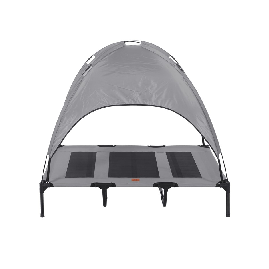 Charlies Elevated Pet Bed With Tent Light Grey Extra Large
