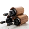 Sherwood Acacia Round 3 Bottle Wine Rack - Natural Brown