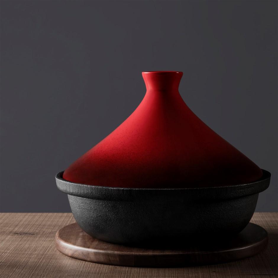 Gourmet Kitchen Cast Iron Tagine - Red