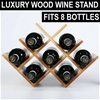 Sherwood Natural Acacia Wood 8 Bottle Tabletop Wine Rack
