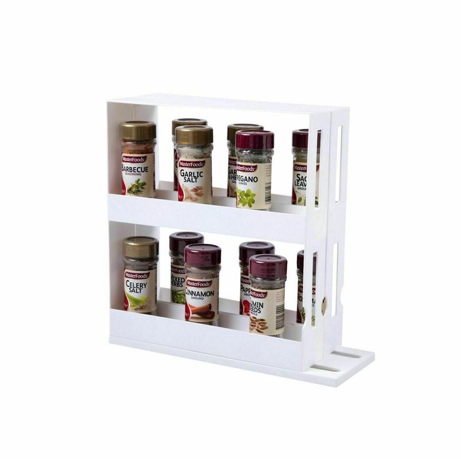 Gourmet Kitchen Slide Store Cabinet Organiser- White