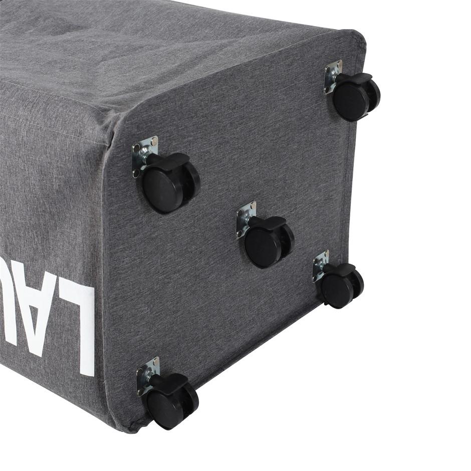 Sherwood Foldable Oxford Fabric Laundry Bag with 5 Wheels