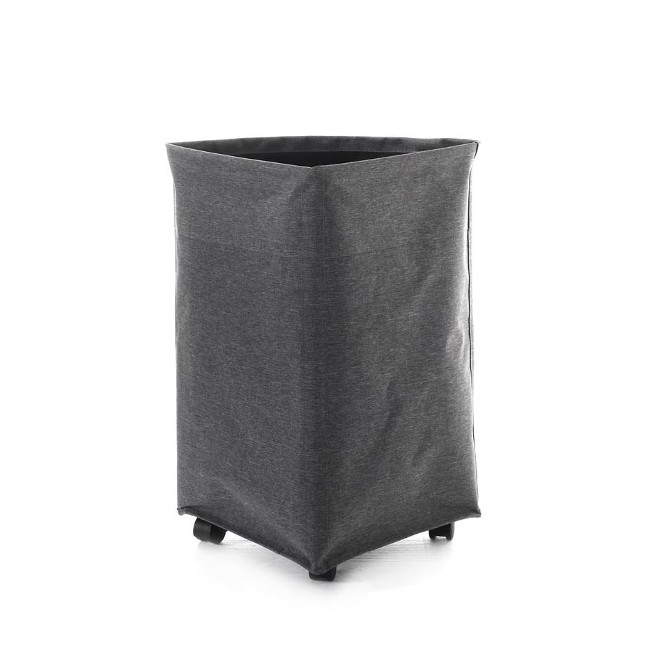 Sherwood Foldable Oxford Fabric Corner Laundry Bag with 4 Wheels