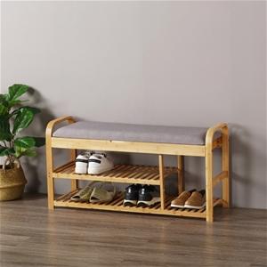 Sherwood Foldable Bamboo Cushioned Bench