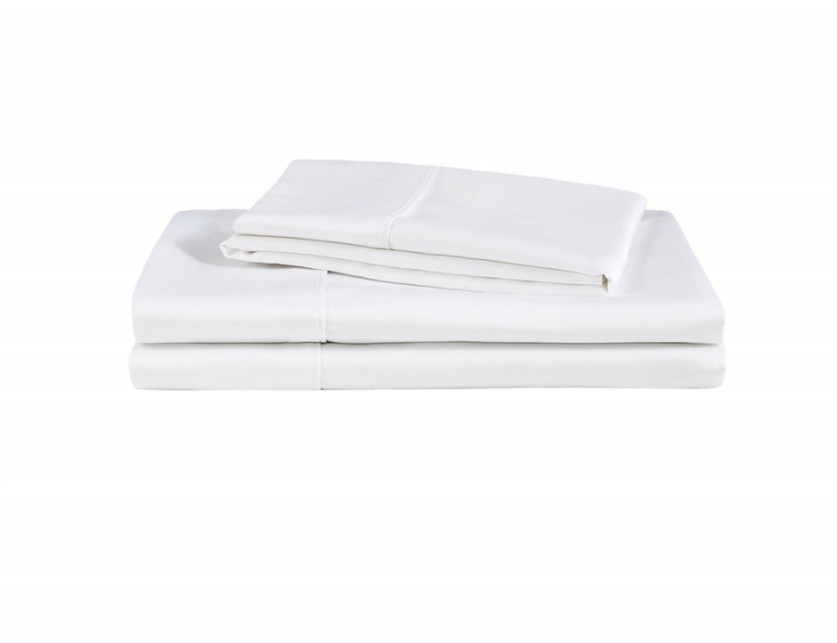 Natural Home Organic Cotton Sheet Set King Bed WHITE