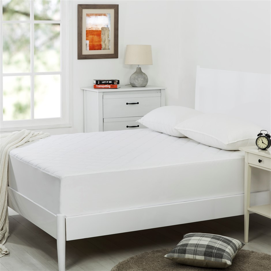 Dreamaker Quilted Cotton Cover Mattress Protector Queen Bed